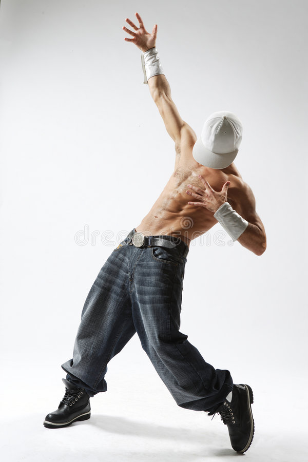 The dancer. Krump style dancer Showing upward royalty free stock photos