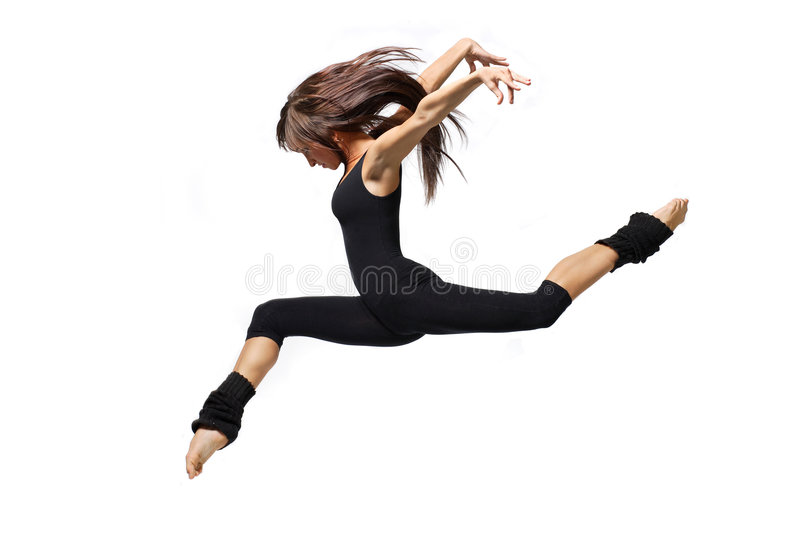 Dancer. Cool dancer jumping on white royalty free stock photos