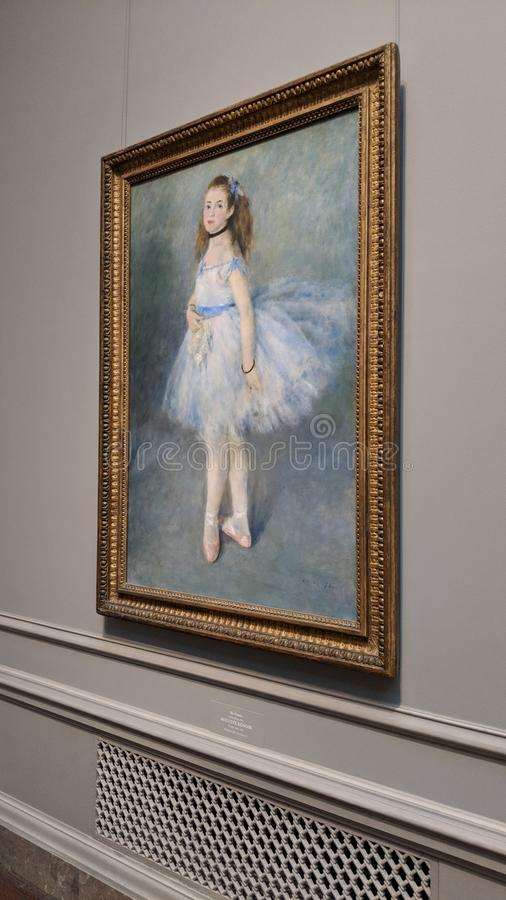 The Dancer, Auguste Renoir 1847 Impressionist stock photo