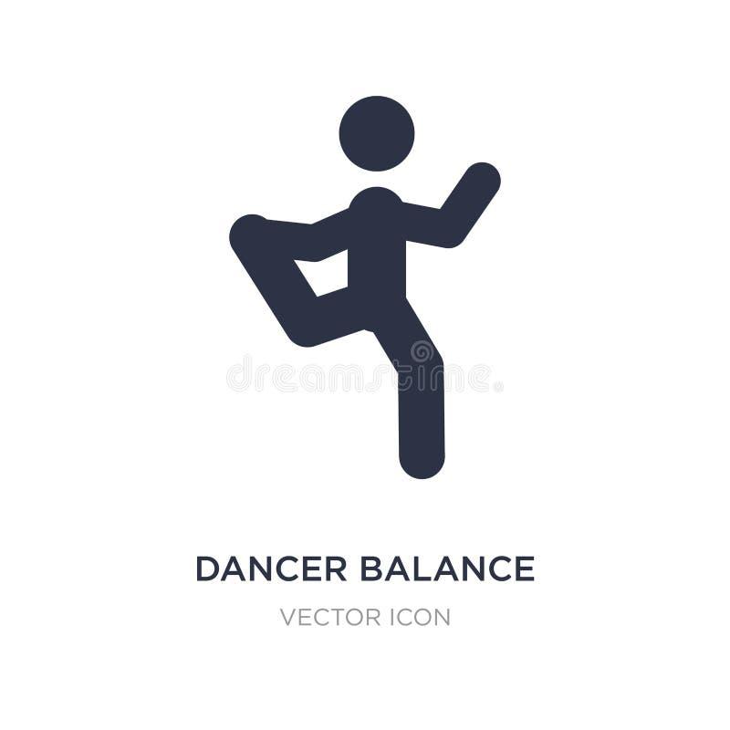 Dancer balance posture on one leg icon on white background. Simple element illustration from Sports concept. Dancer balance posture on one leg sign icon symbol royalty free illustration