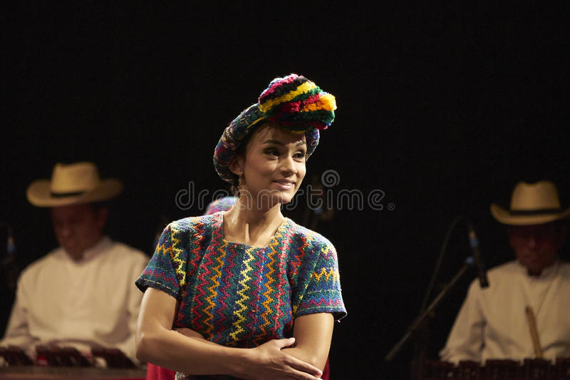 Dancer of the Ballet Moderno Y Folkloric Nacional of Guatemala royalty free stock image