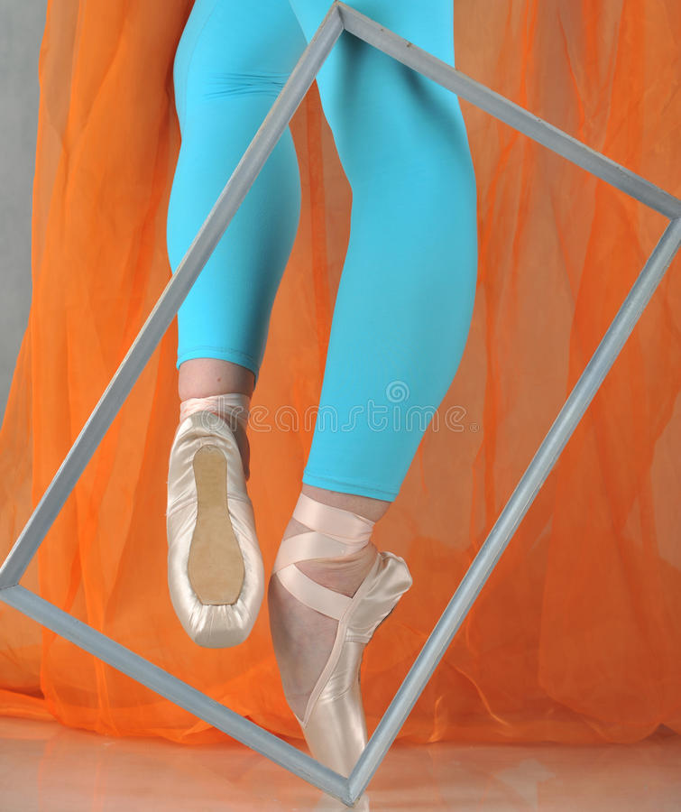 Dancer in ballet pointe royalty free stock photography
