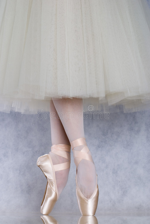 Dancer in ballet pointe royalty free stock image