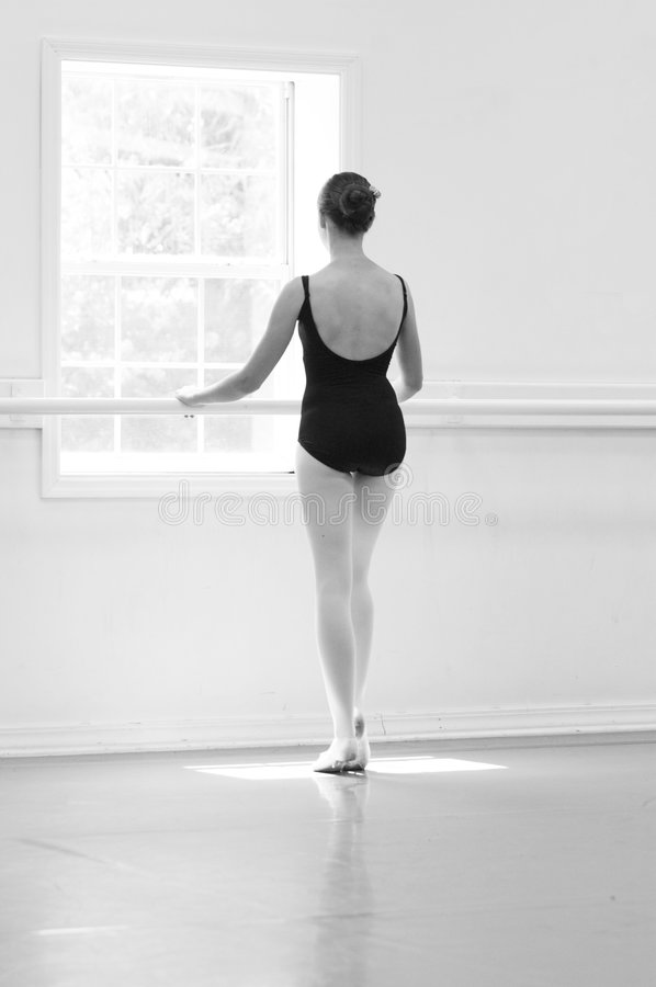 Dancer at the Barre stock photo
