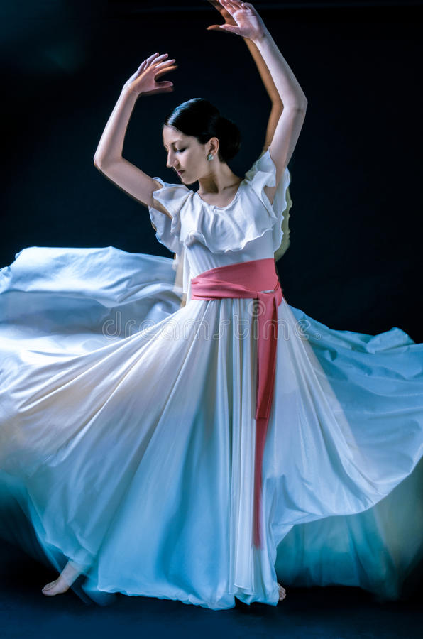 Dancer. Beautiful female dancer playing her part royalty free stock photography