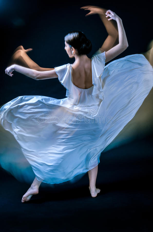 Dancer. Beautiful female dancer playing her part royalty free stock photo