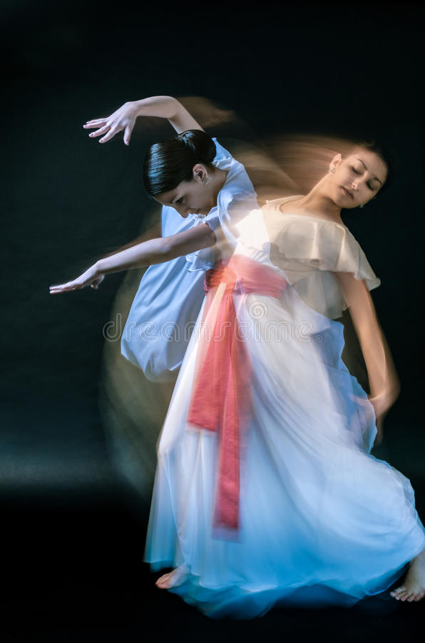 Dancer. Beautiful female dancer playing her part royalty free stock photos