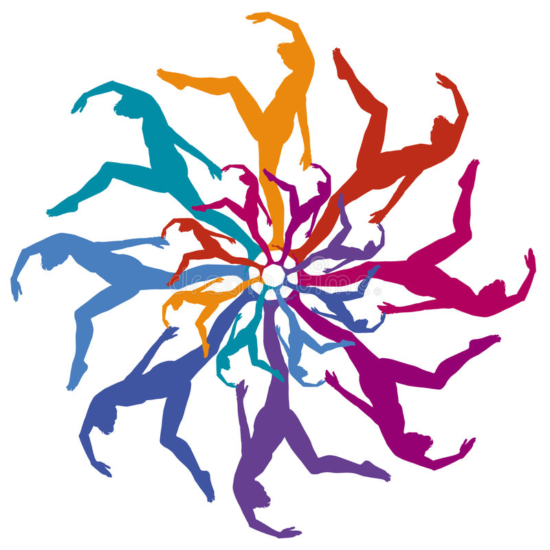 Dancer Circle royalty free illustration