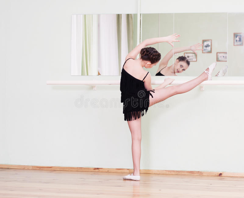 Dancer in a dance class. Young dancer in a dance class stock images