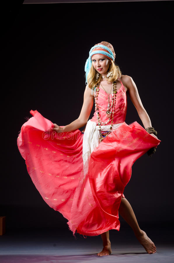 Dancer Dancing Spanish Dances Stock Images