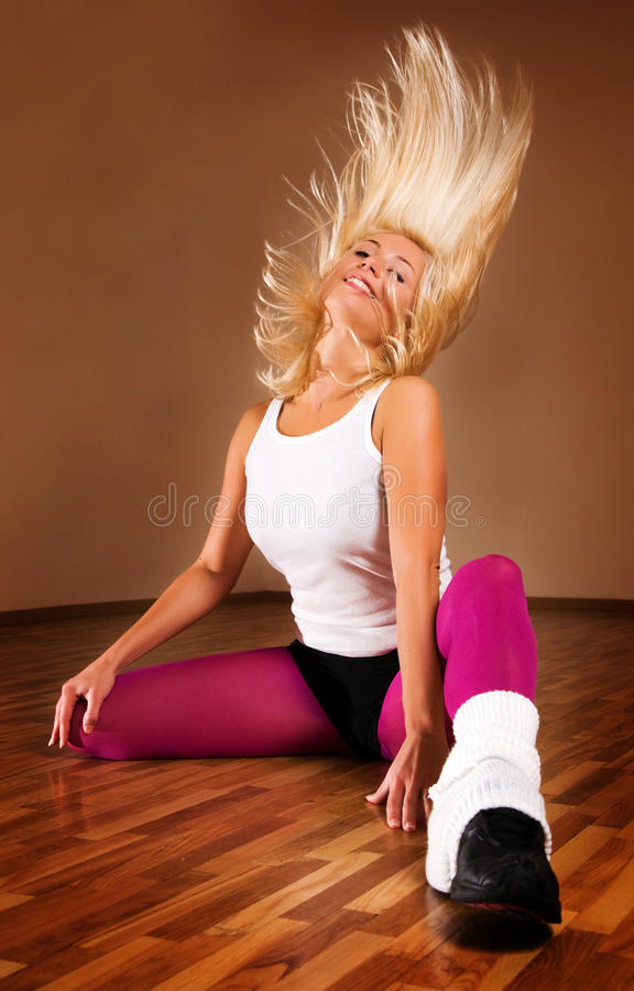 Dancer girl stock photography
