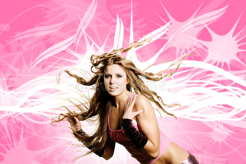 Download Dancer girl stock photo. Image of beautiful, hair, dance - 2295672