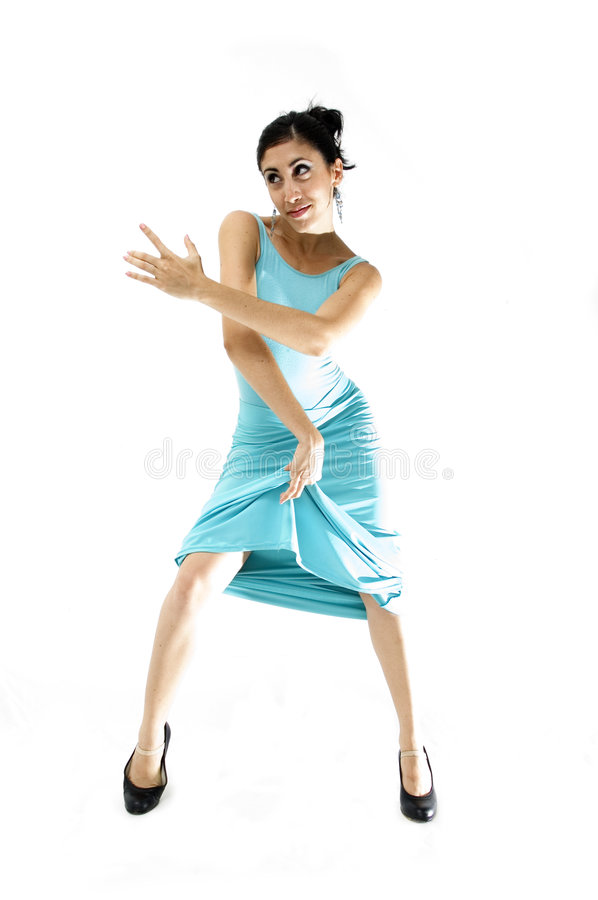 Dancer girl isolated stock image