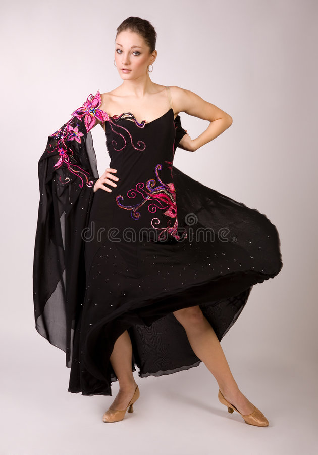 Download Dancer girl in motion stock photo. Image of attractive - 9165130