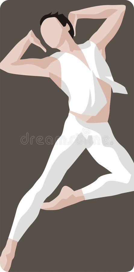 Dancer Illustration stock photography