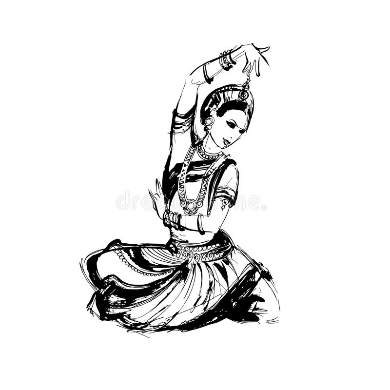 Dancer Indian Dance Stock Vector Illustration Of Satra 100332188
