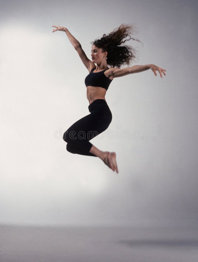 Dancer jumping royalty free stock image