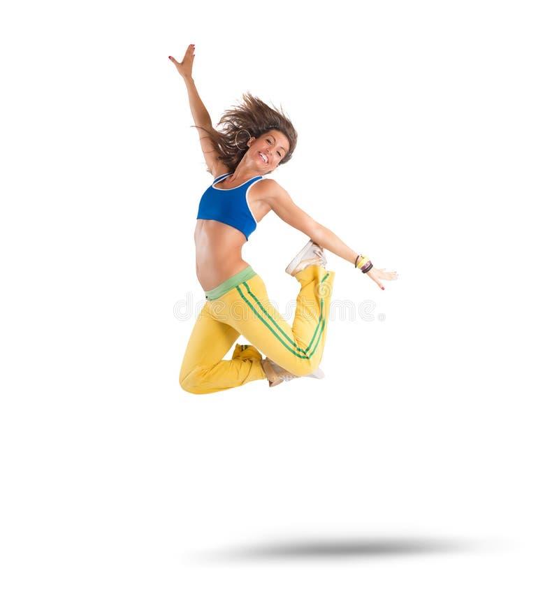 Dancer jumps stock photo