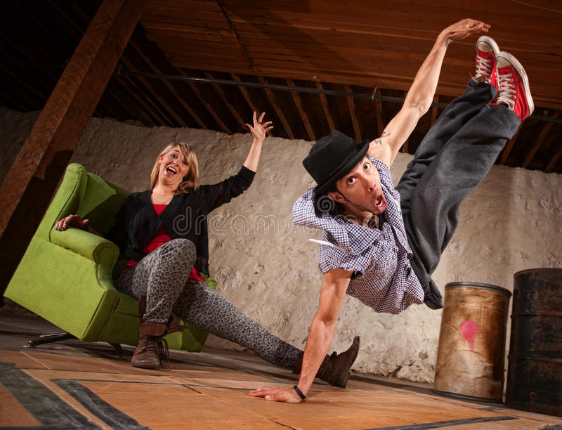 Download Dancer Leaping Up stock image. Image of airborne, break - 25740181