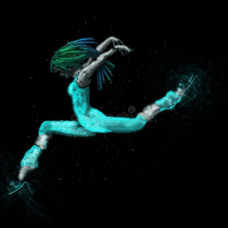 Dancer modern royalty free illustration
