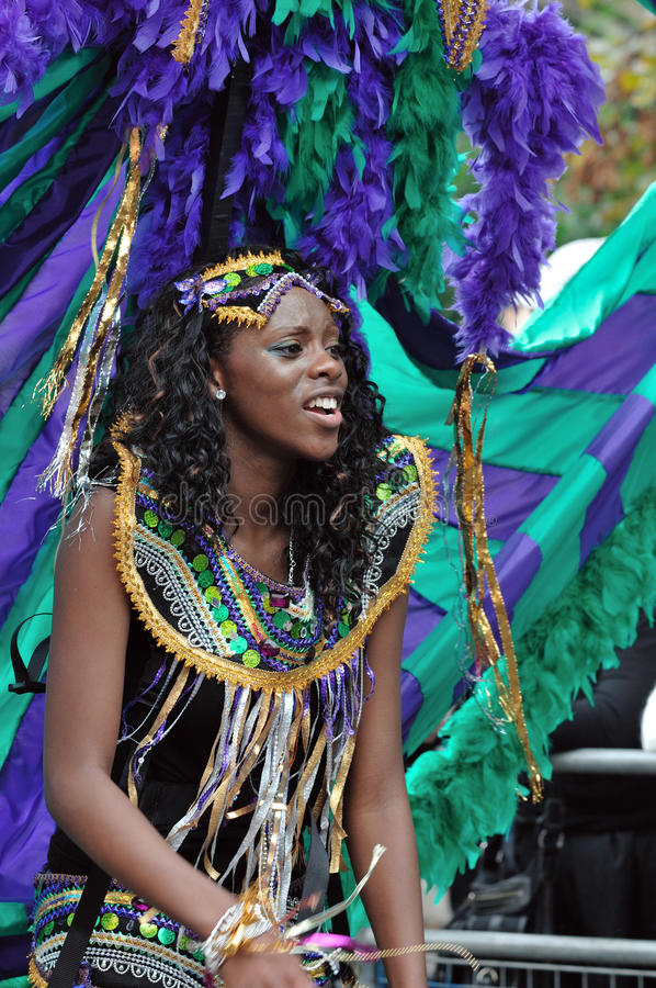 Download A DANCER IN THE NOTTING HILL CARNIVAL, LONDON Editorial Stock Image - Image: 10733314