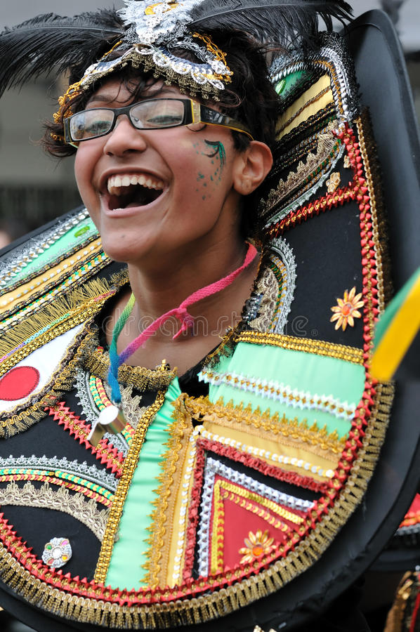 A DANCER IN THE NOTTING HILL CARNIVAL, LONDON Editorial Photo