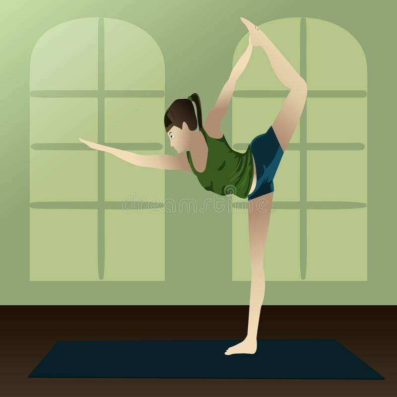 Download Dancer pose stock vector. Image of asana, blue, green - 23813614