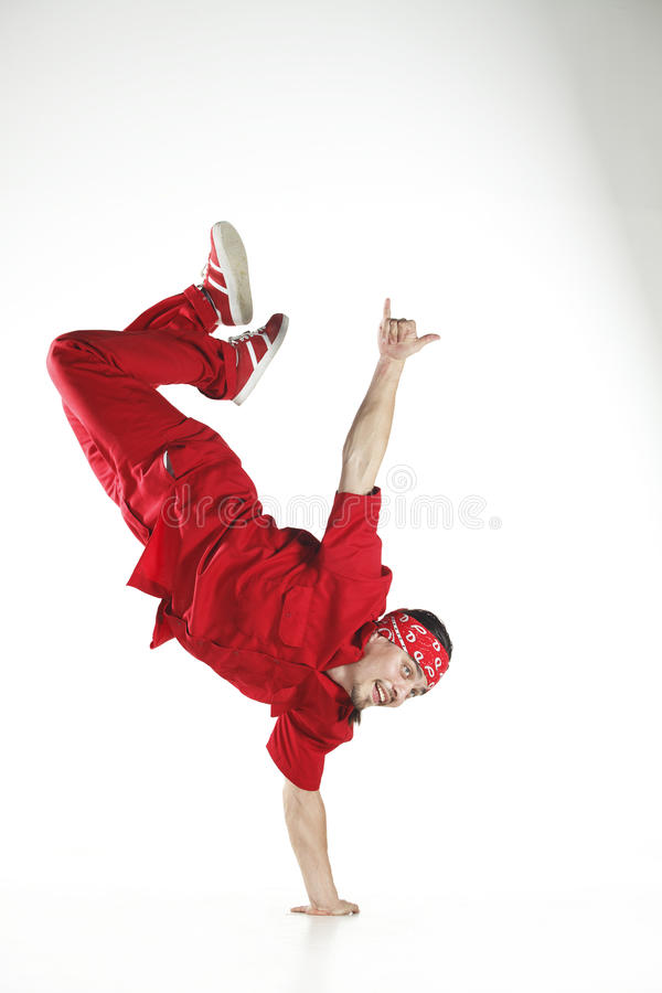 Dancer in red royalty free stock image