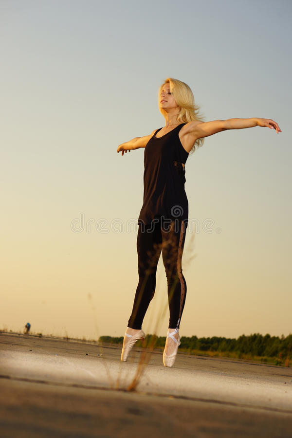Download Dancer on road stock photo. Image of athlete, gymnastic - 38939592