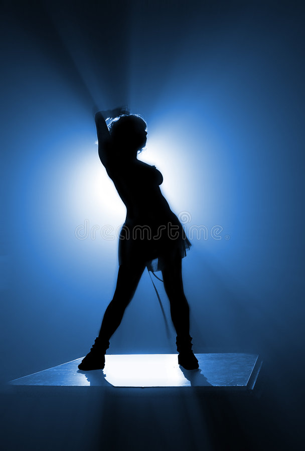Dancer's silhouette royalty free illustration