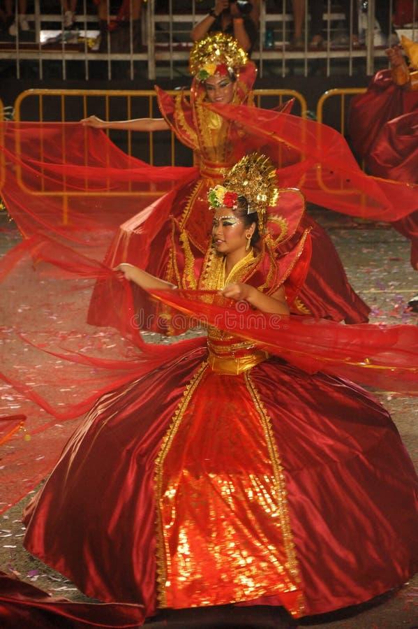Dancer from The Sacred Love (Puteri Gunung Ledang). Chingay Parade 2010 Segment 2: Malay Tale - The Sacred Love (Puteri Gunung Ledang) Choreographer: Osman Bin royalty free stock photo