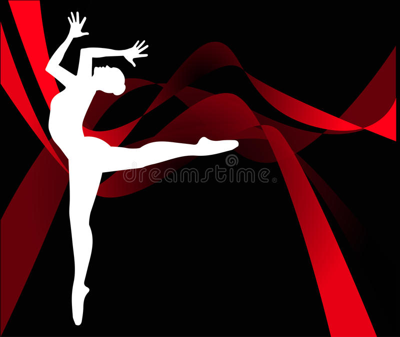 Download Dancer silhouette stock vector. Illustration of athlete - 34697555