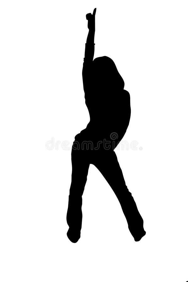 dancer silhouette urban 库存例证