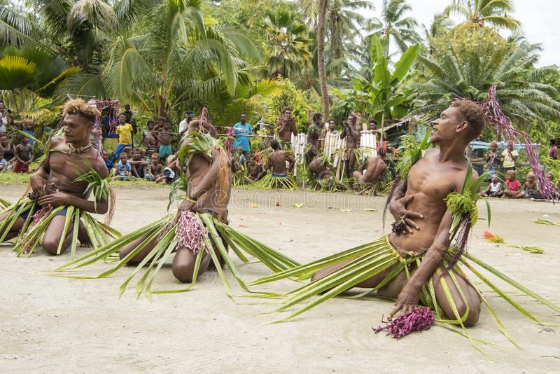 Dancer Solomon Island, South Pacific Ocean stock images