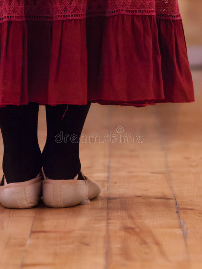 A dancer standing in a dance school. Room attending a lesson royalty free stock photography