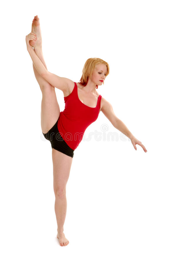 Download Dancer with Standing Split stock image. Image of white - 23034065