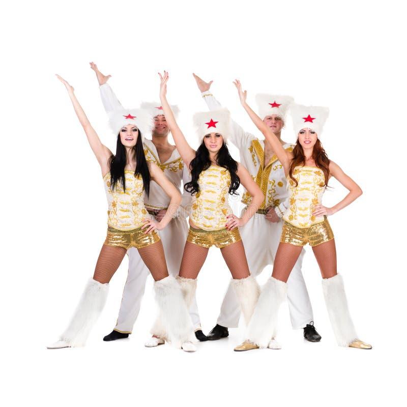 Download Dancer Team Wearing A Folk Cossack Costumes Stock Image - Image: 29901263
