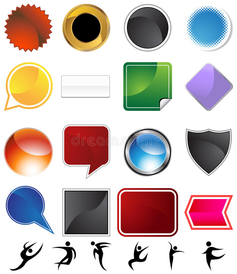 Download Dancer Variety Set stock vector. Image of silhouettes - 12189118