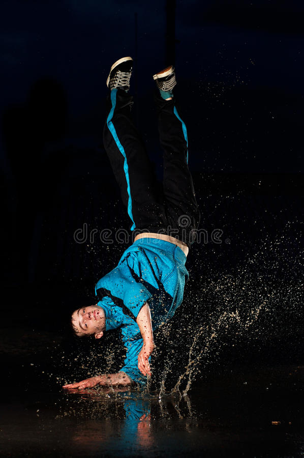 Dancer in water royalty free stock photo