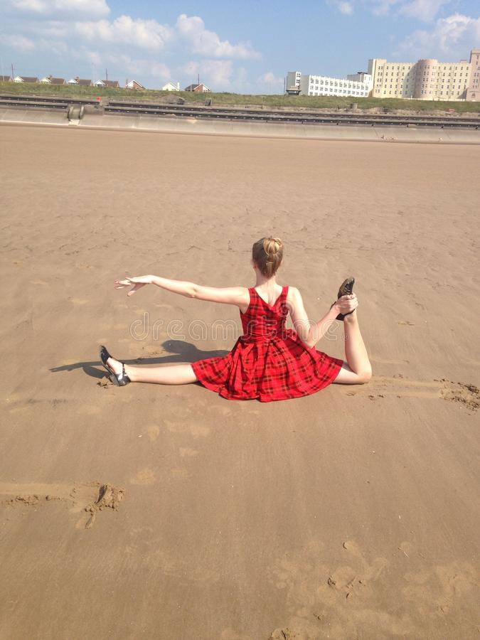 DancerModel lizenzfreie stockfotos