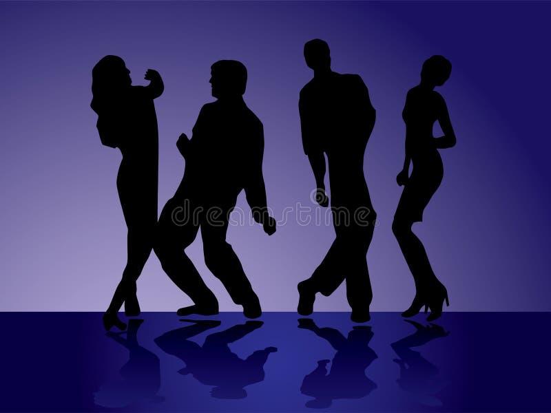 Download Dancers - 1 stock vector. Image of contour, editable, illustration - 4454725