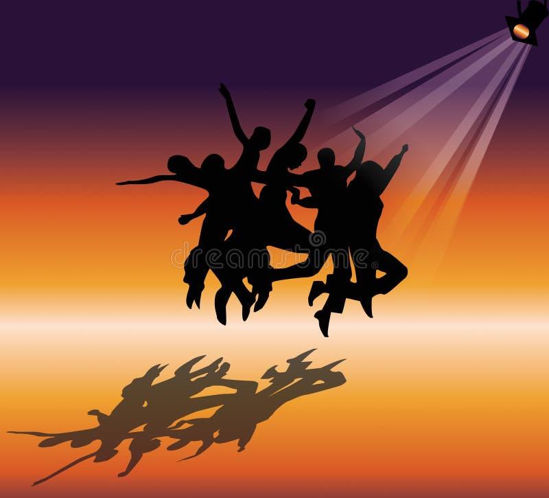 Dancers royalty free illustration