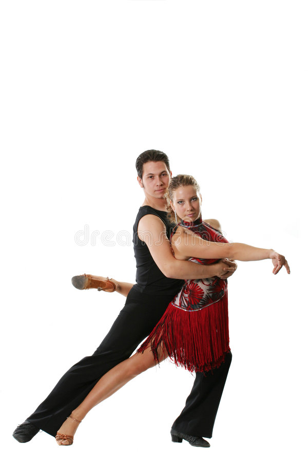 Dancers. The young man and the girl dancing the Latin American dance