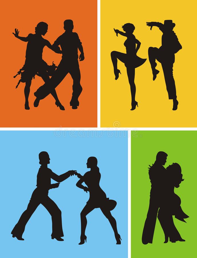 Download Dancers stock vector. Image of passion, jive, illustration - 4608667