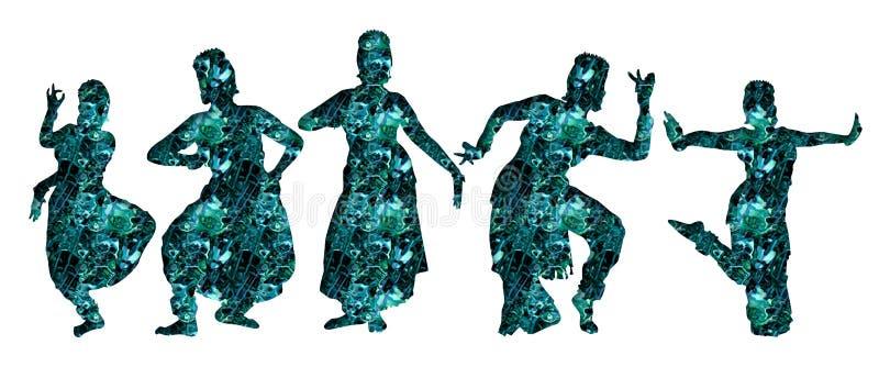 Dancers. Dance group stock illustration