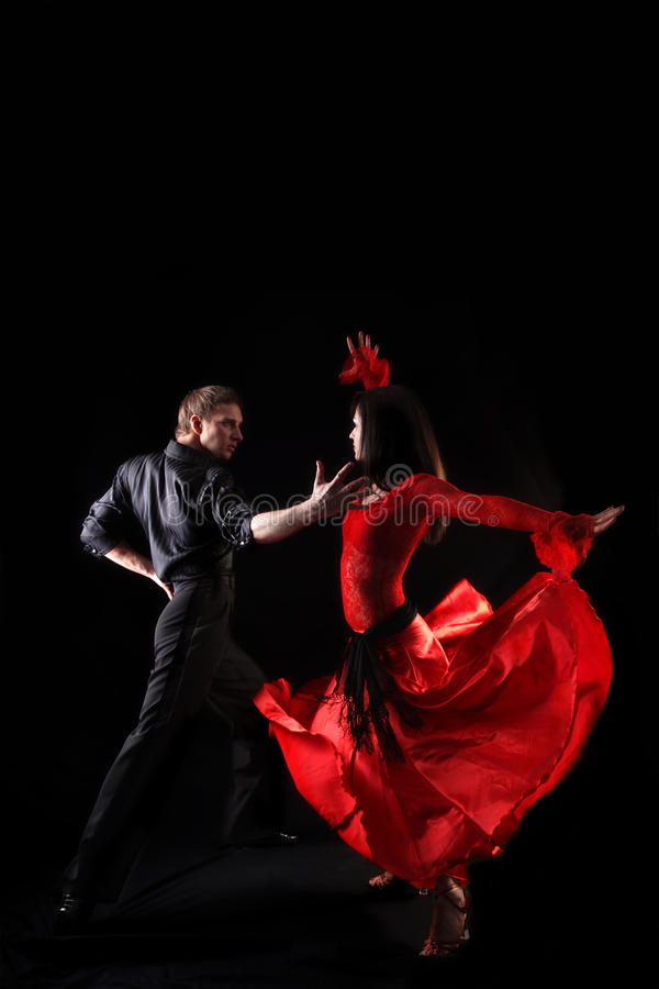 Download Dancers Against Black Background Stock Photo - Image: 10277526
