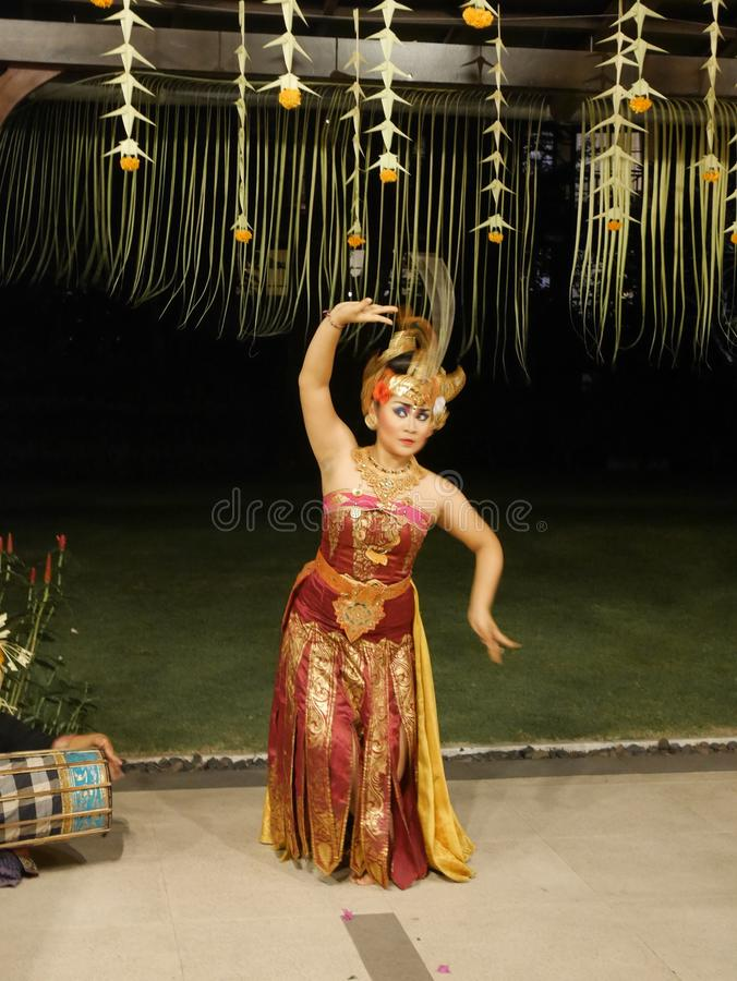 Dancers in Bali, Balinese girls, national dances stock photo