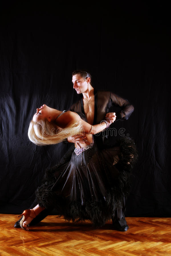 Download Dancers in ballroom stock image. Image of girl, black - 11081501