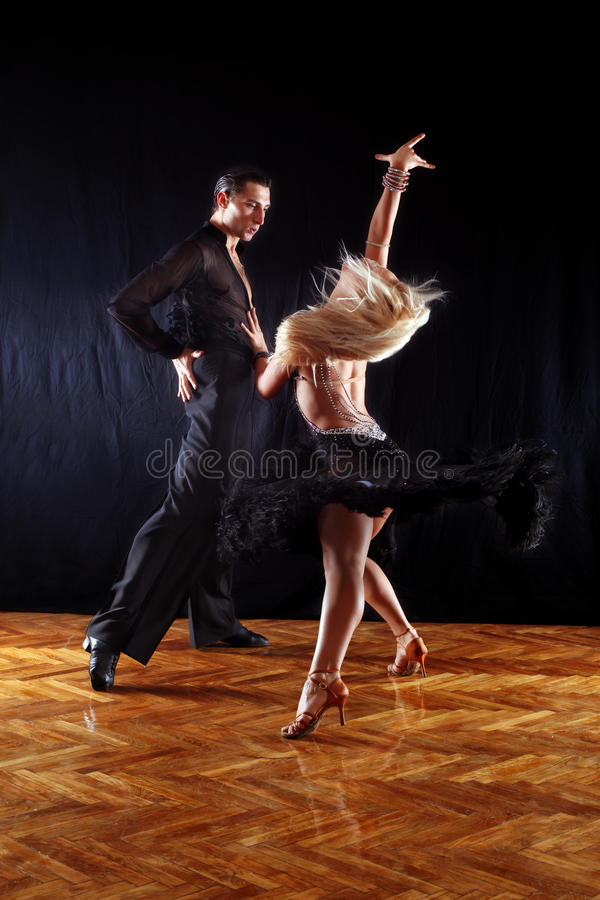 Download Dancers in ballroom stock image. Image of black, exercise - 11435133