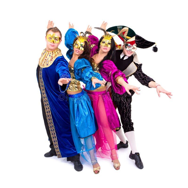Download Dancers In Carnival Costumes Posing Stock Image - Image: 16910753
